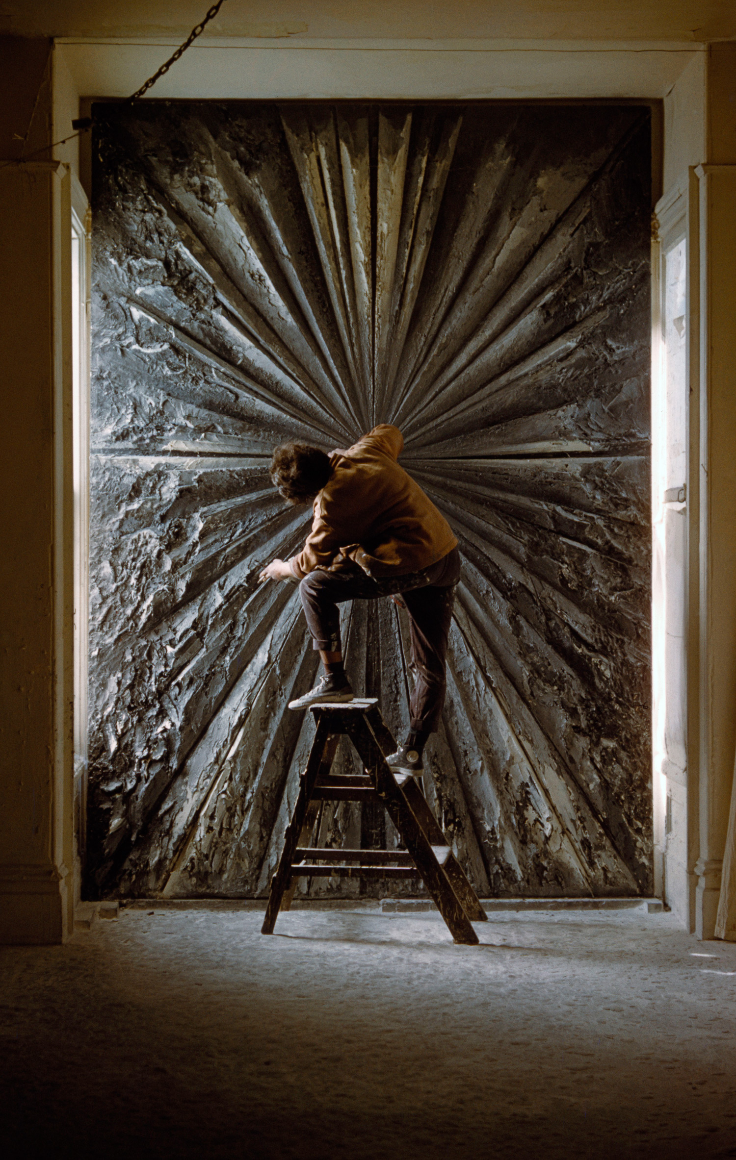 Jay DeFeo working on The Rose at 2322 Fillmore, Burt Glinn